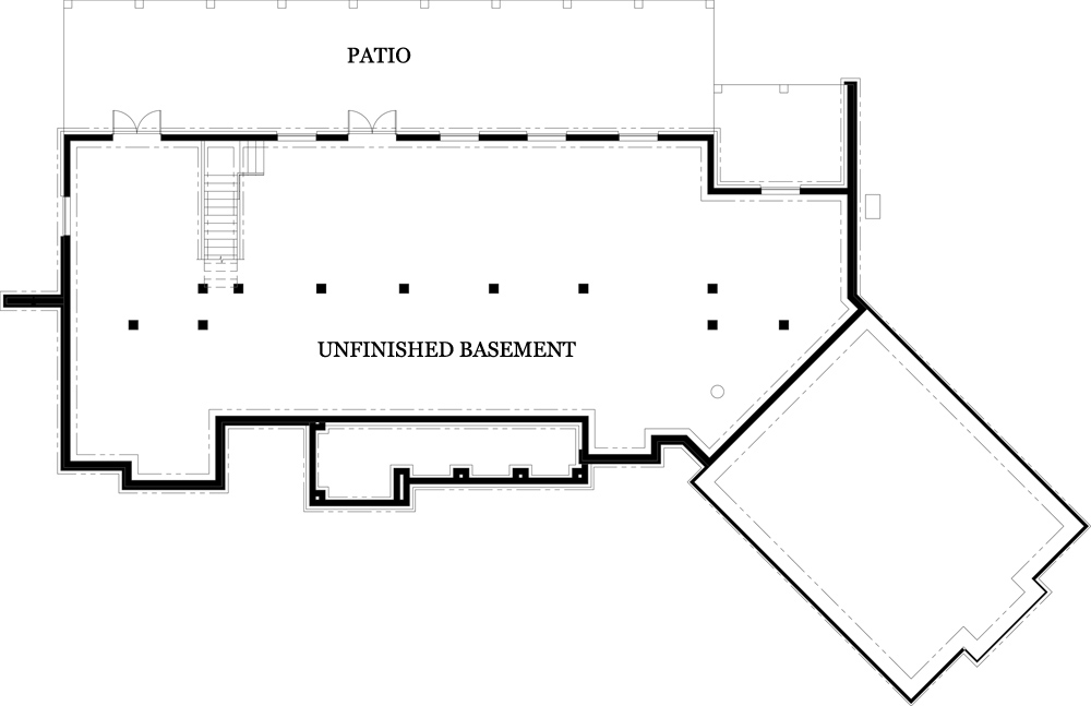 Unfinished Basement image of Featured House Plan: PBH - 4445