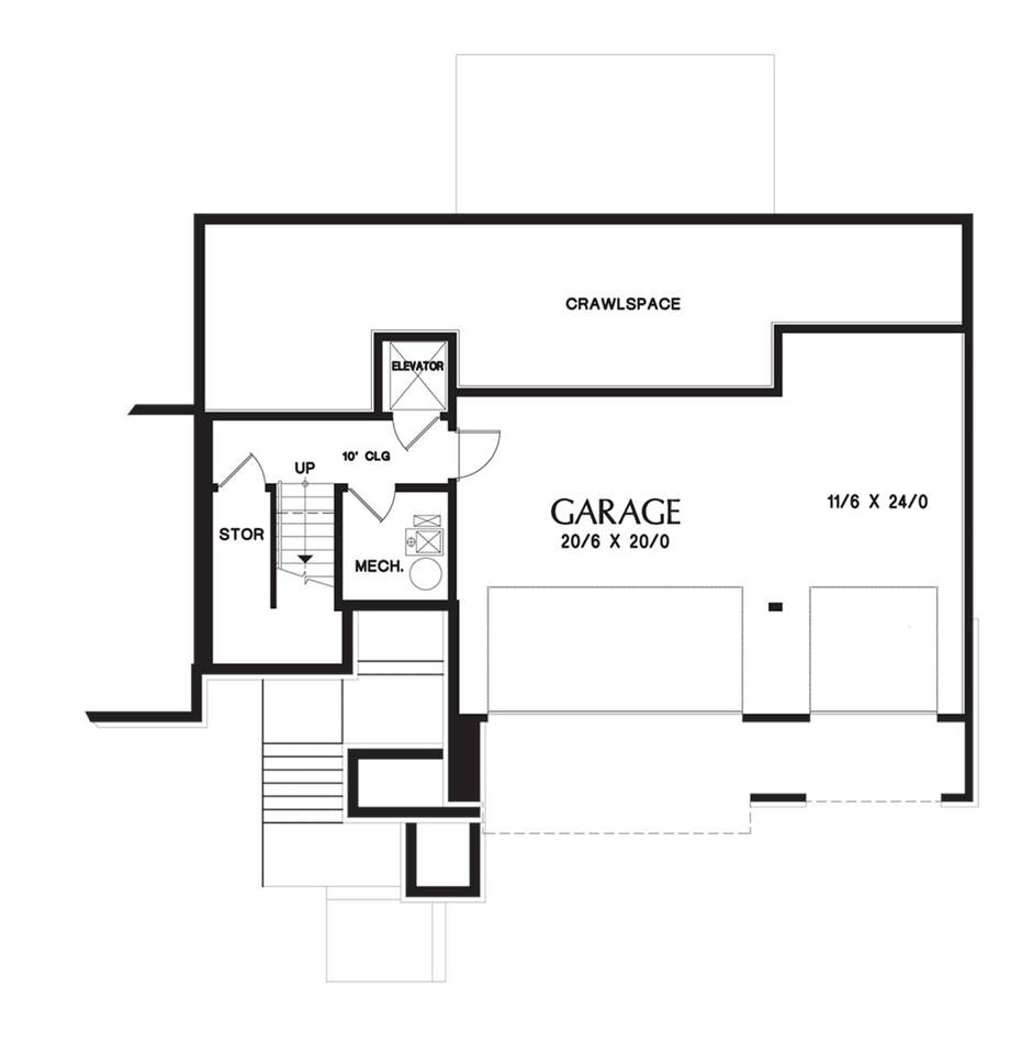 Lower Floor Plan image of Featured House Plan: PBH - 5192