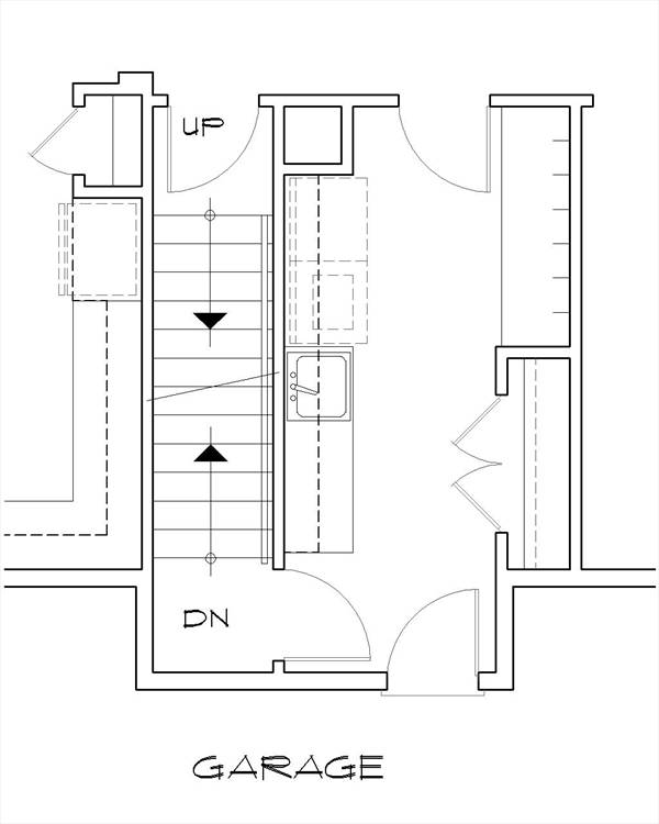 Basement Stair Location image of Featured House Plan: PBH - 8290
