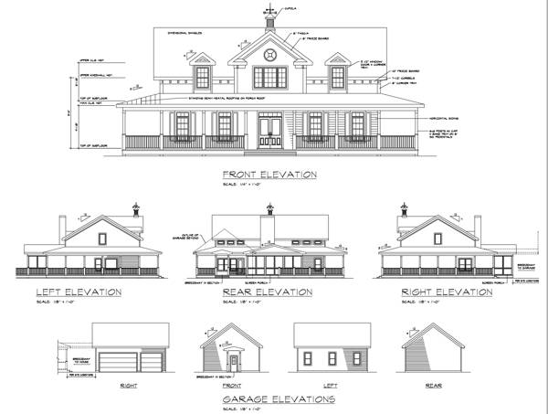 Rear Elevation image of Featured House Plan: PBH - 6245