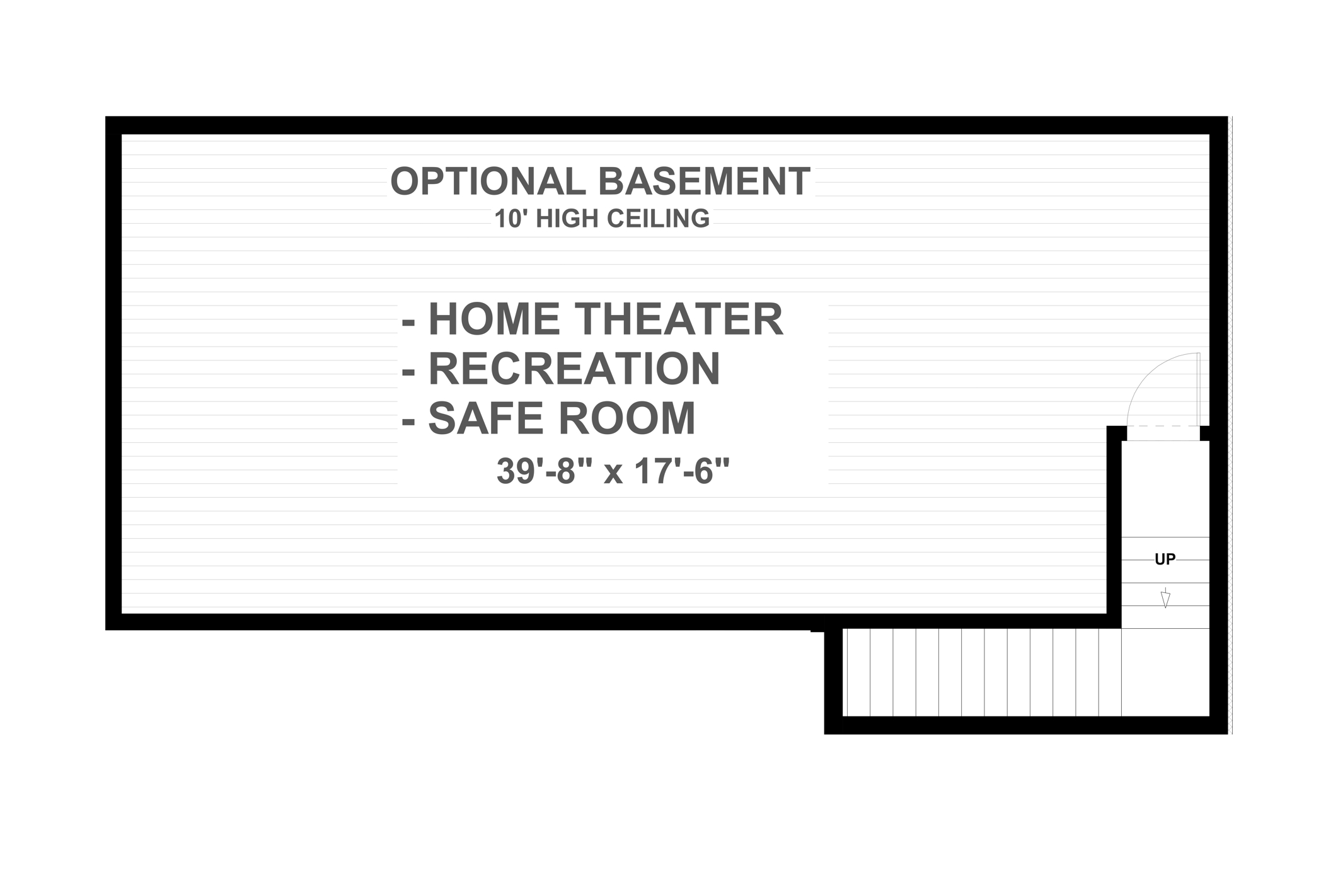 Basement Plan image of Featured House Plan: PBH - 4710