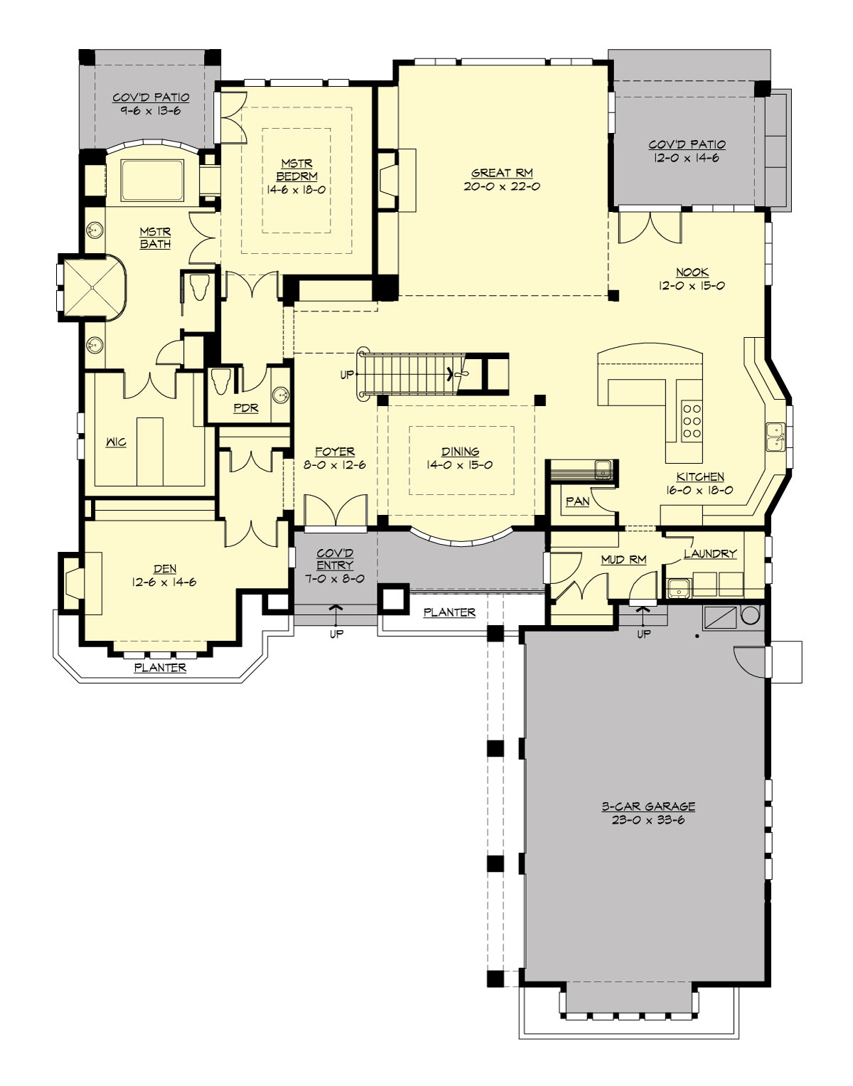 Main Floor image of Featured House Plan: PBH - 3361