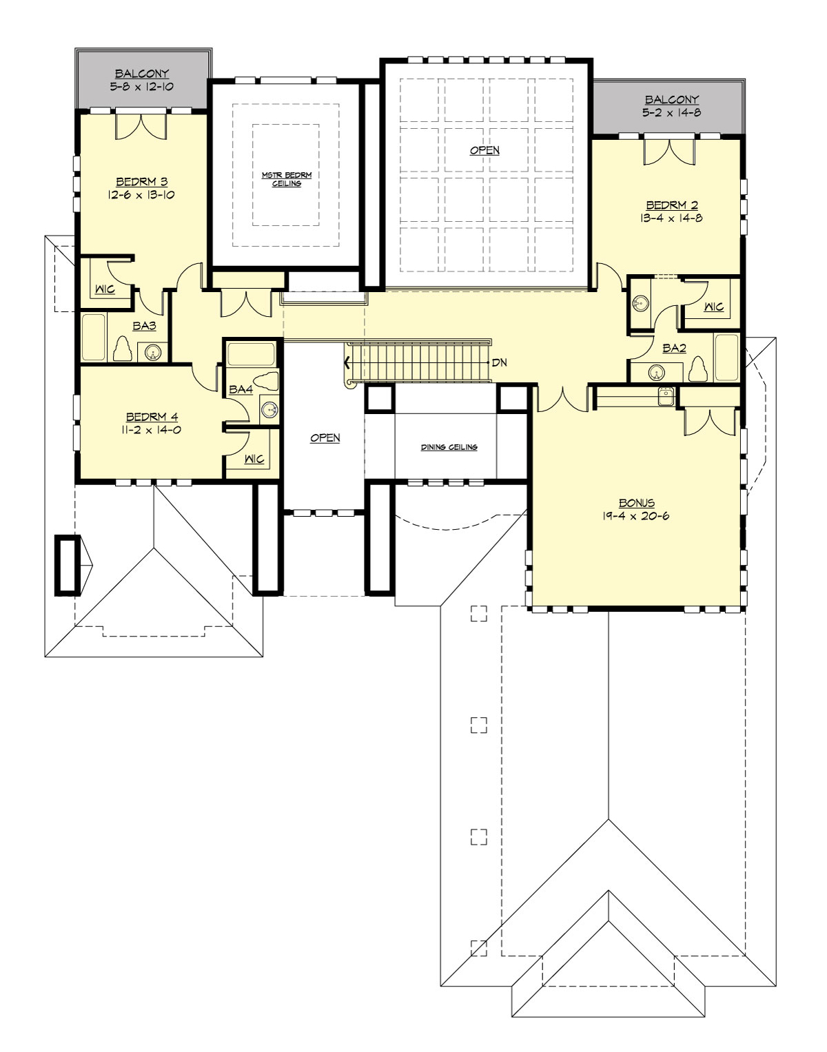 Upper Floor image of Featured House Plan: PBH - 3361