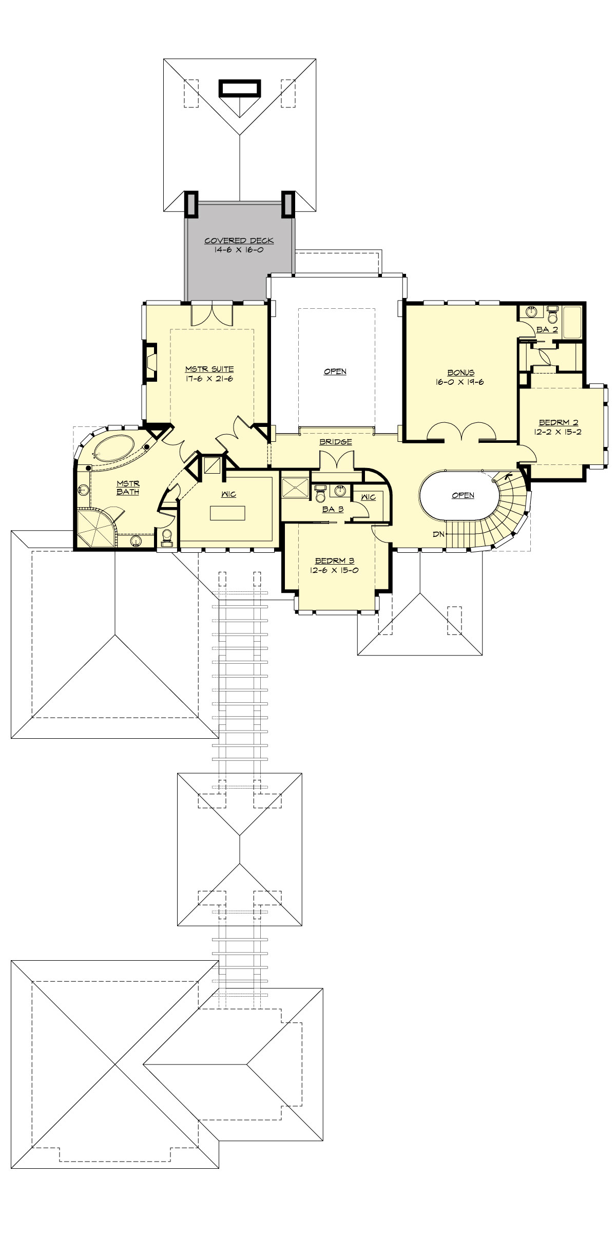 Upper Floor image of Featured House Plan: PBH - 3346