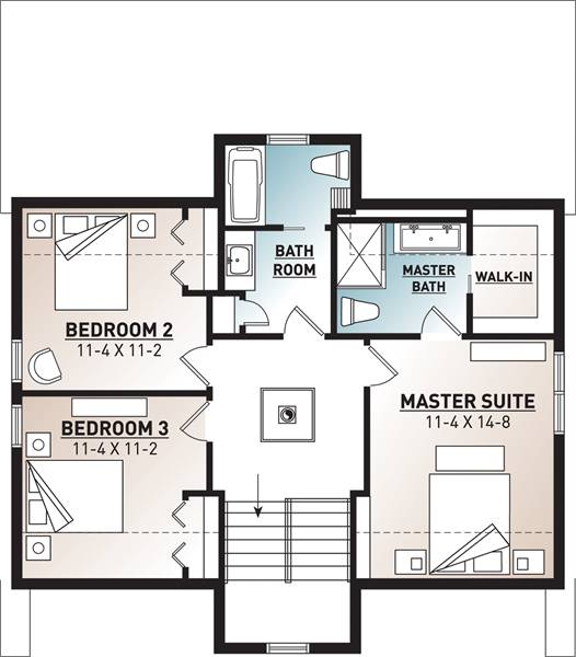 2nd Floor Plan image of Featured House Plan: PBH - 4773