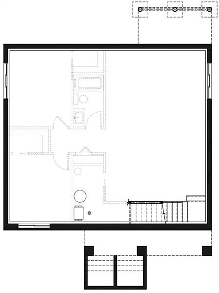 Basement image of Featured House Plan: PBH - 7351
