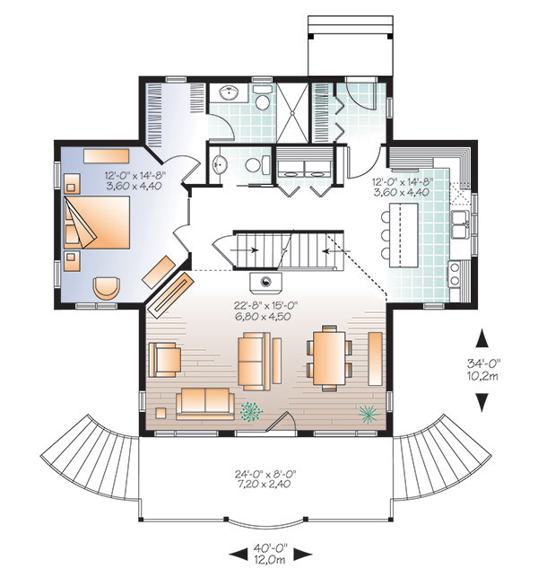 First level image of Featured House Plan: PBH - 4769