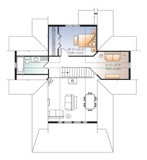 Second level image of Featured House Plan: PBH - 4769