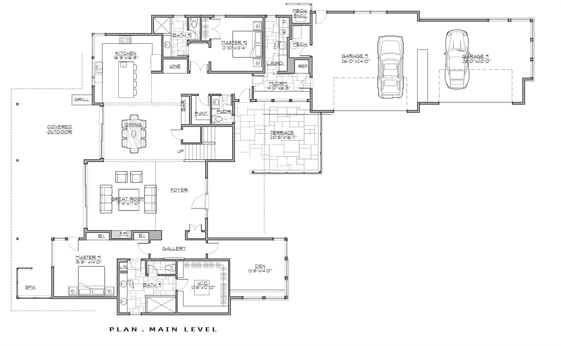 1st Floor Plan image of Featured House Plan: PBH - 7259