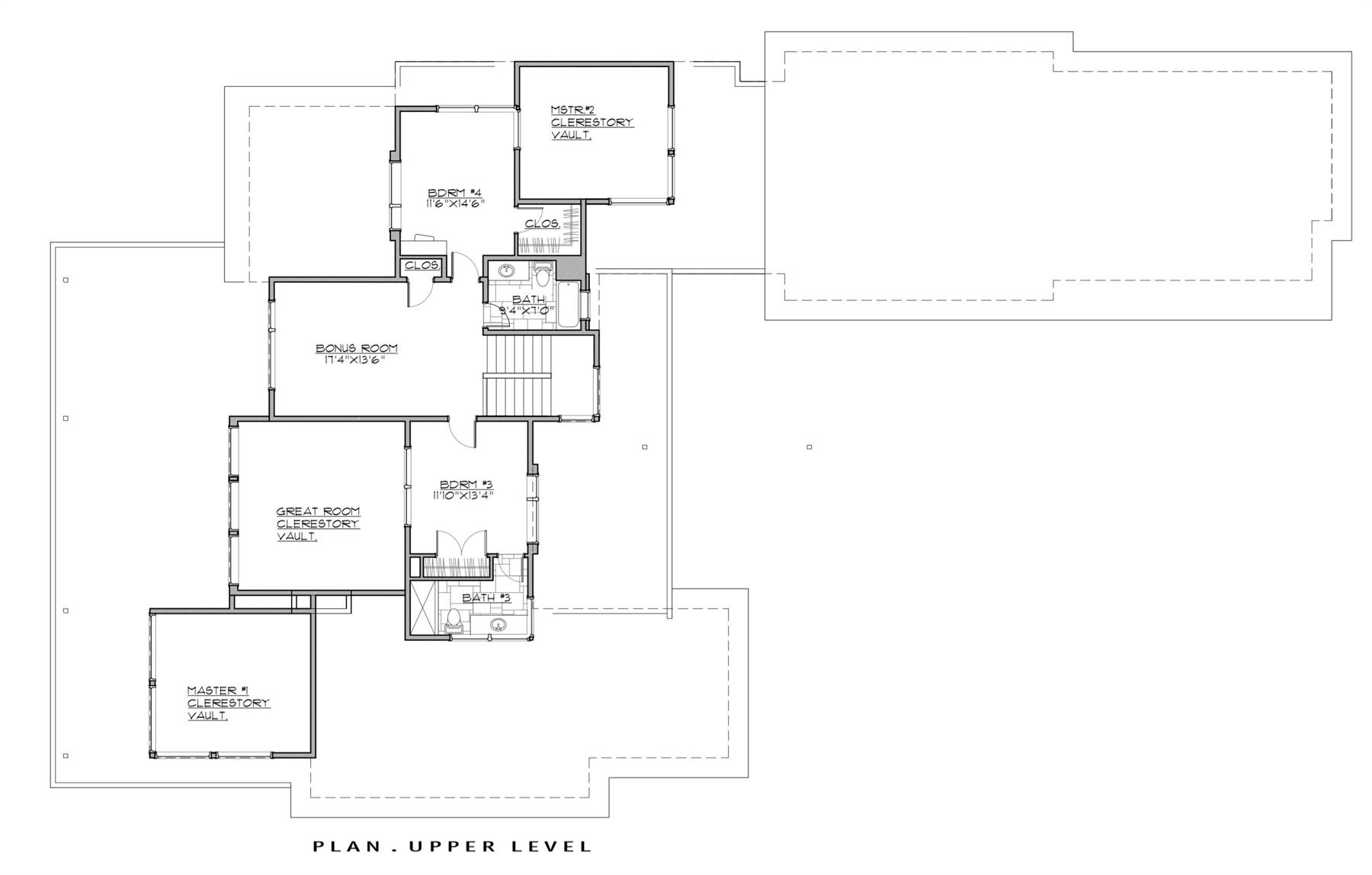 2nd Floor Plan image of Featured House Plan: PBH - 7259