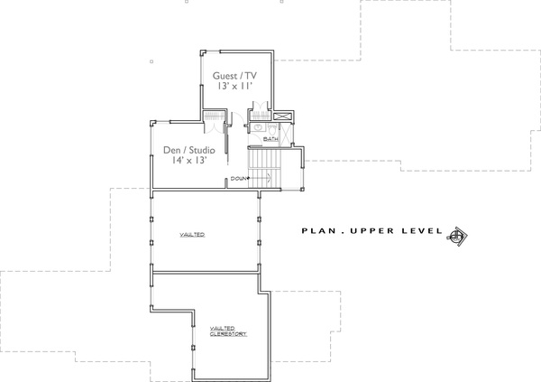 2nd Floor image of Featured House Plan: PBH - 9044