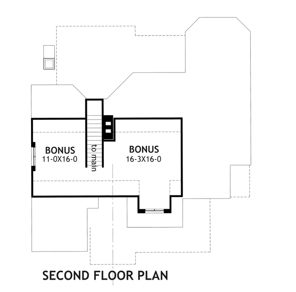 Second Floor Plan image of Featured House Plan: PBH - 2259