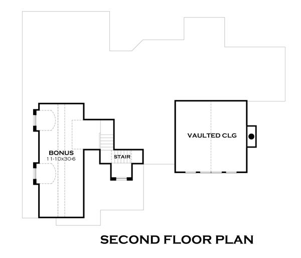 Second Floor Plan image of Featured House Plan: PBH - 4838