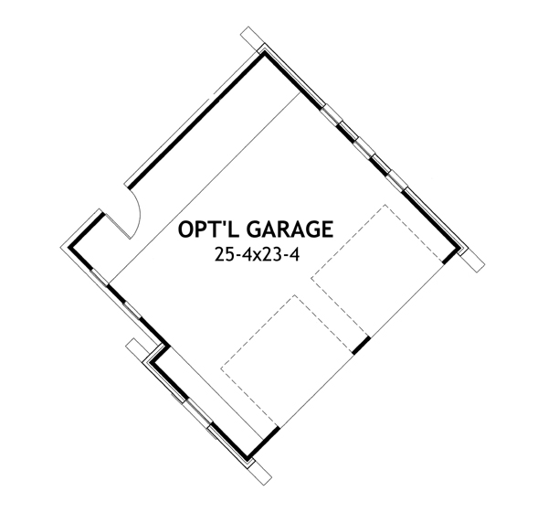 Detached Garage option image of Featured House Plan: PBH - 2259