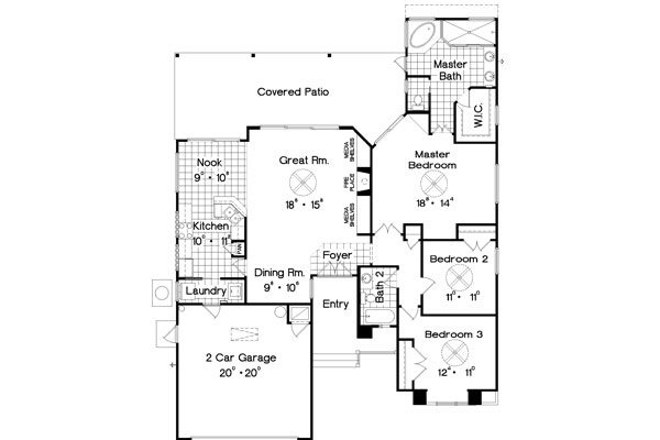 Floor Plan image of Featured House Plan: PBH - 4718