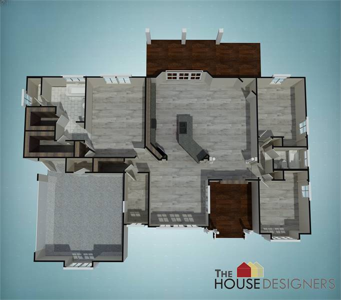 Floor Plan image of Featured House Plan: PBH - 7575