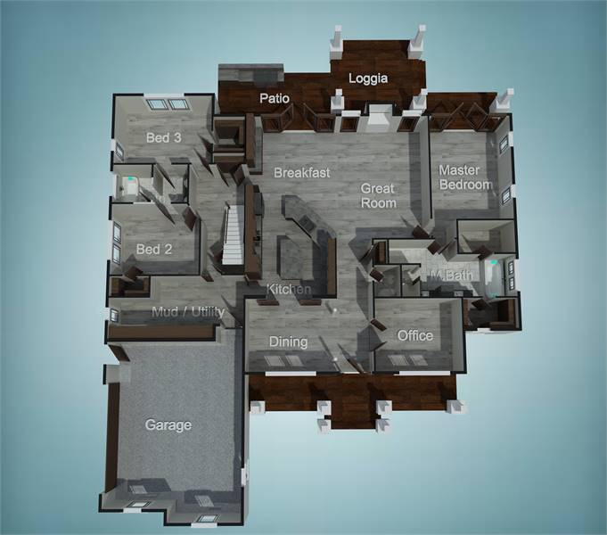 Floor Plan image of Featured House Plan: PBH - 9898