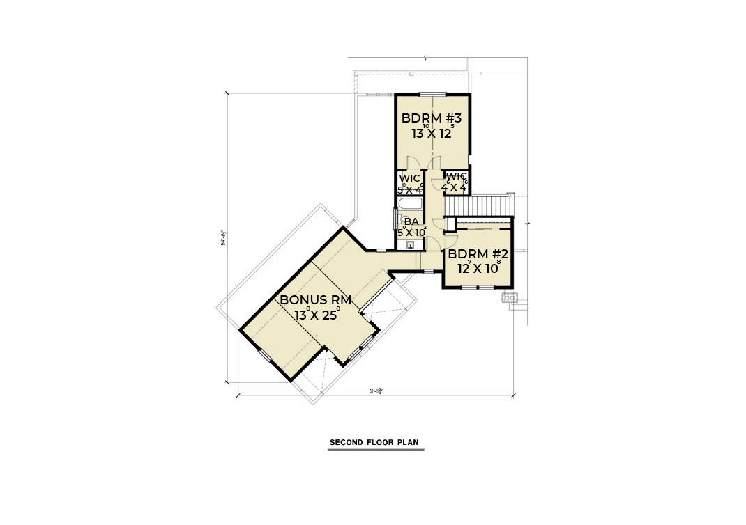 2nd Floor Plan image of Featured House Plan: PBH - 6846