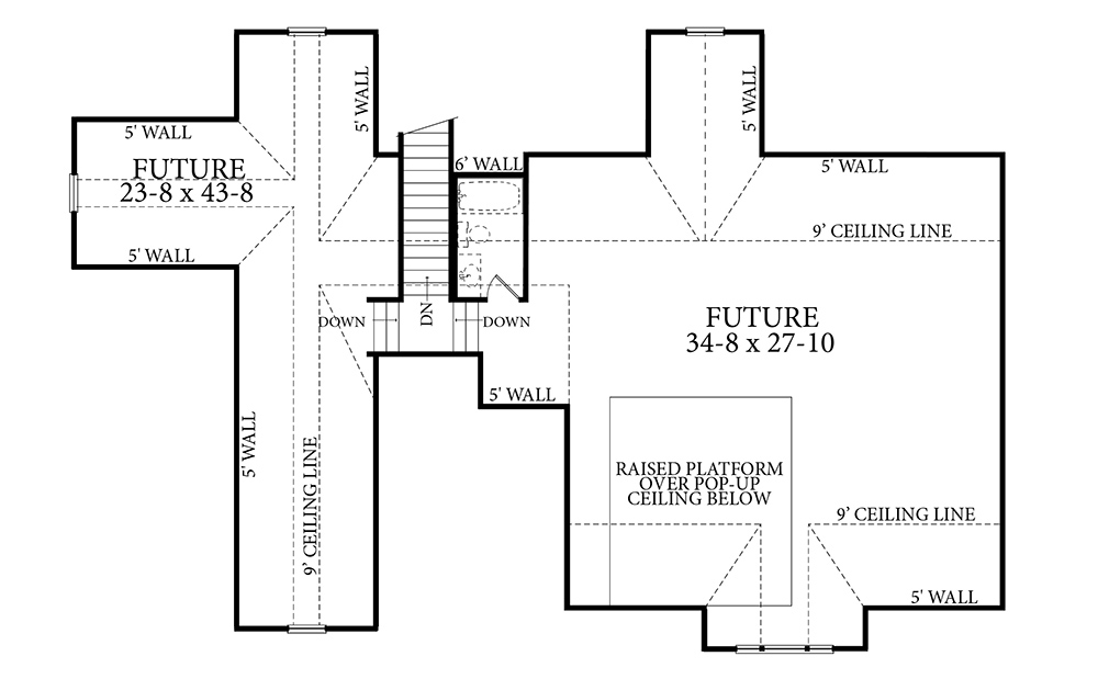 Optional or Future Floor Plan image of Featured House Plan: PBH - 7263