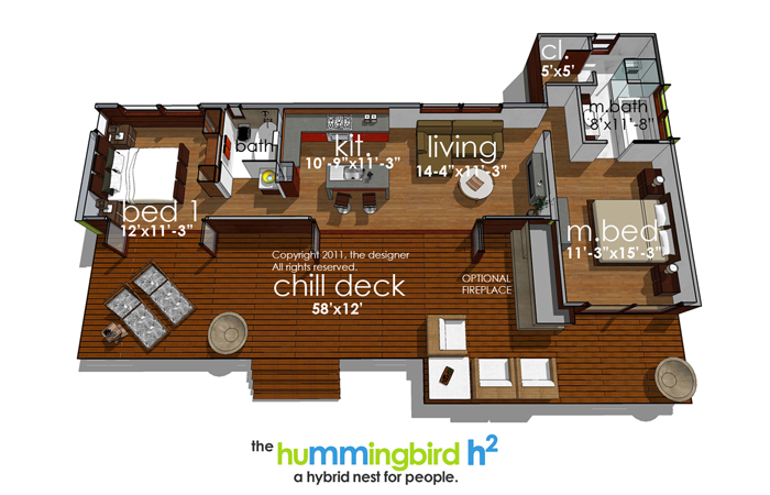 Floor Plan image of Featured House Plan: PBH - 3973