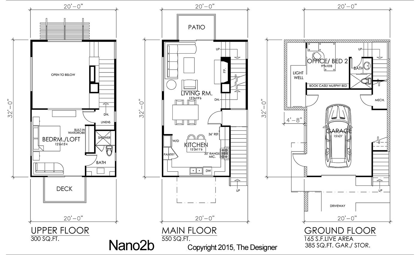 Floor Plan image of Featured House Plan: PBH - 9501