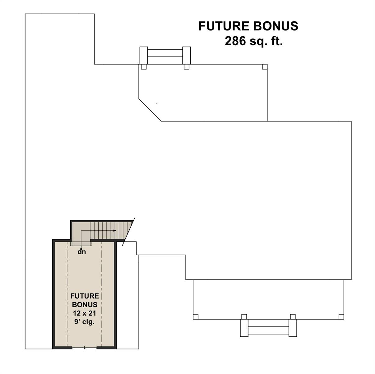 Bonus Floor Plan image of Featured House Plan: PBH - 7207