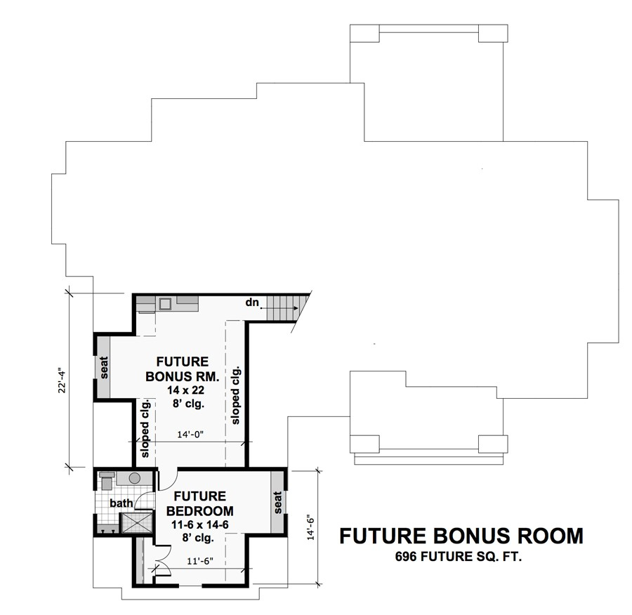 Bonus Floor Plan image of Featured House Plan: PBH - 9719