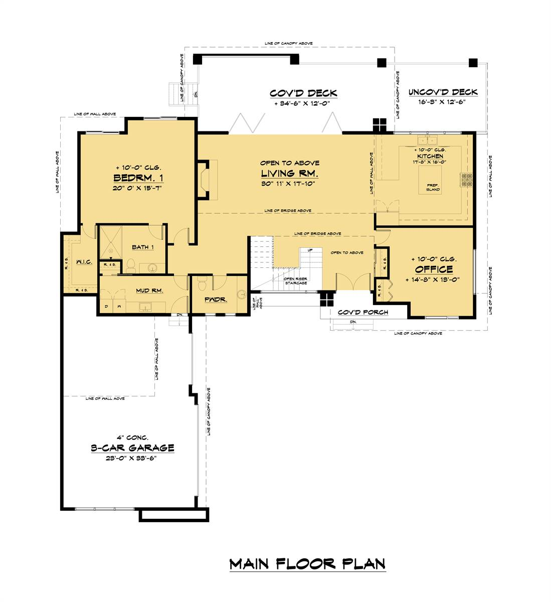 Main Floor Plan image of Featured House Plan: PBH - 7539