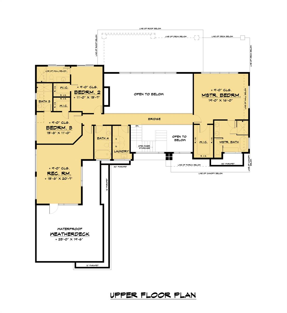 Upper Floor Plan image of Featured House Plan: PBH - 7539