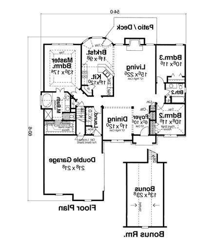 Floor Plan image of Featured House Plan: PBH - 6786